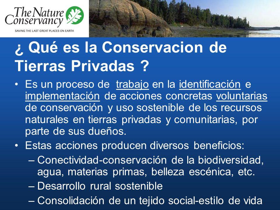 ¿ Qué es la Conservacion de Tierras Privadas