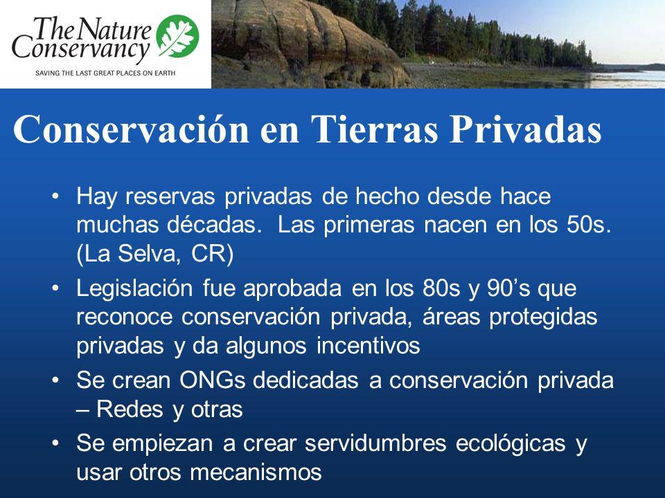 Conservación en Tierras Privadas