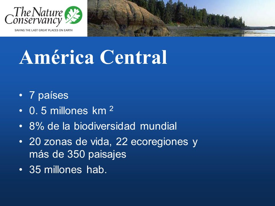 América Central 7 países 0. 5 millones km 2