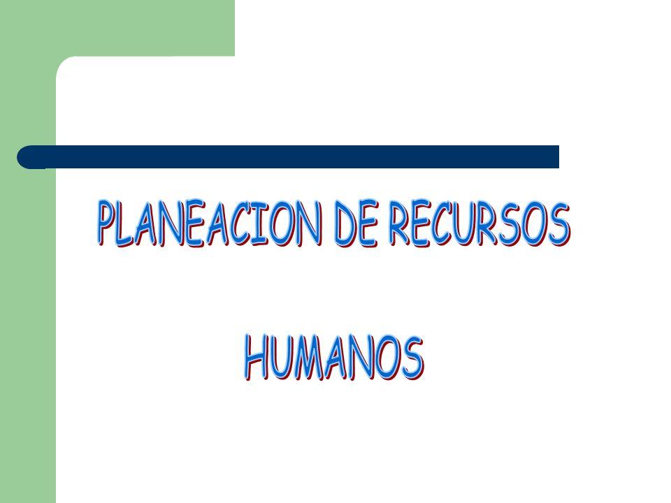 PLANEACION DE RECURSOS