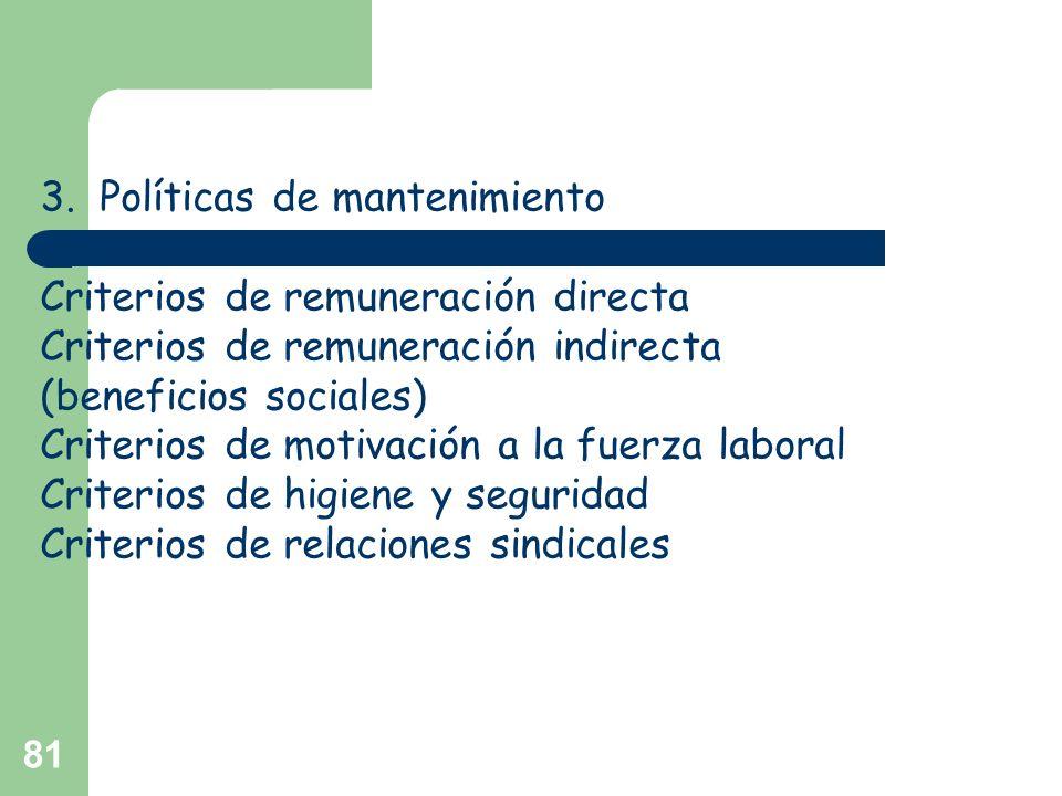 3. Políticas de mantenimiento