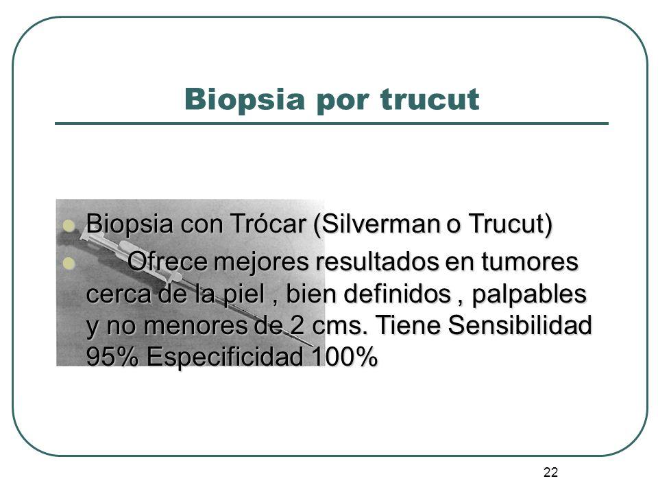 Biopsia por trucut Biopsia con Trócar (Silverman o Trucut)
