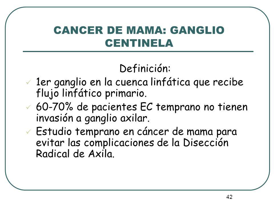 CANCER DE MAMA: GANGLIO CENTINELA