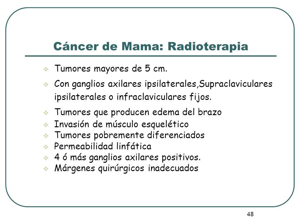 Cáncer de Mama: Radioterapia