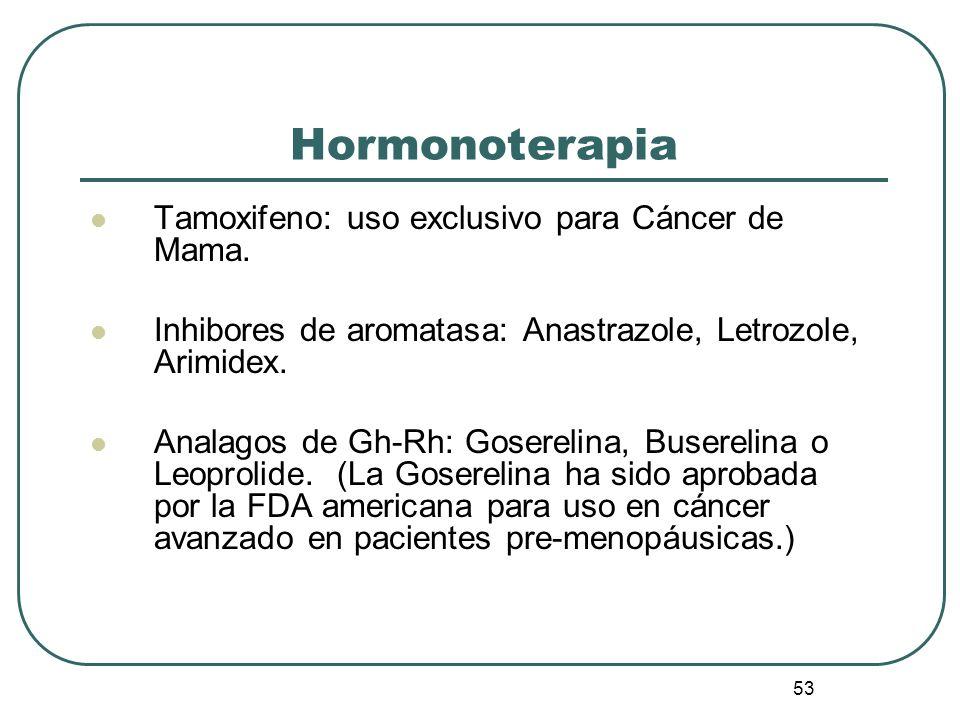 Hormonoterapia Tamoxifeno: uso exclusivo para Cáncer de Mama.