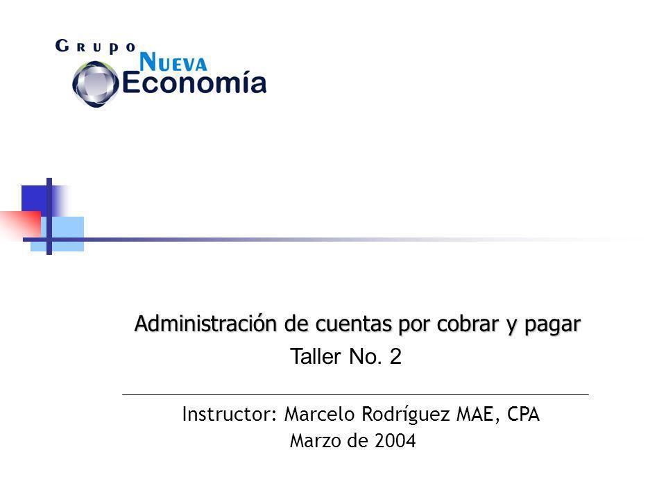 Administración de cuentas por cobrar y pagar