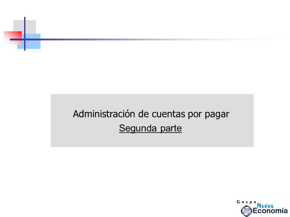 Administración de cuentas por pagar
