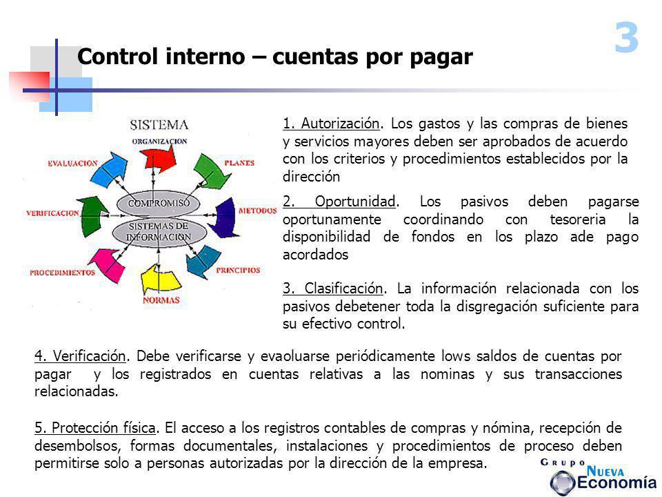 3 Control interno – cuentas por pagar