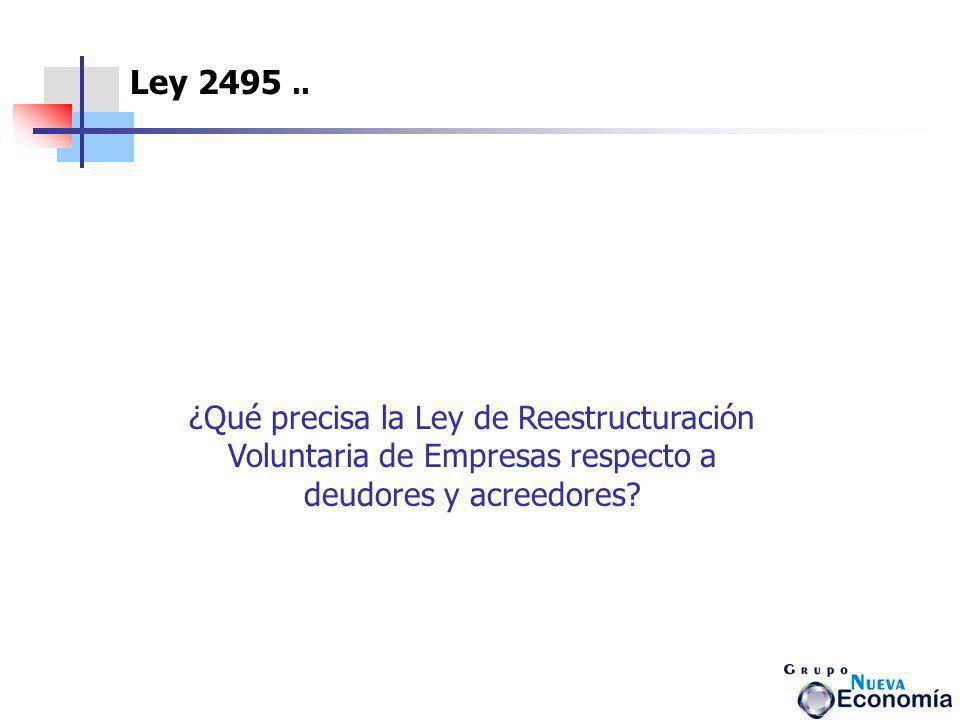 Ley 2495 ..