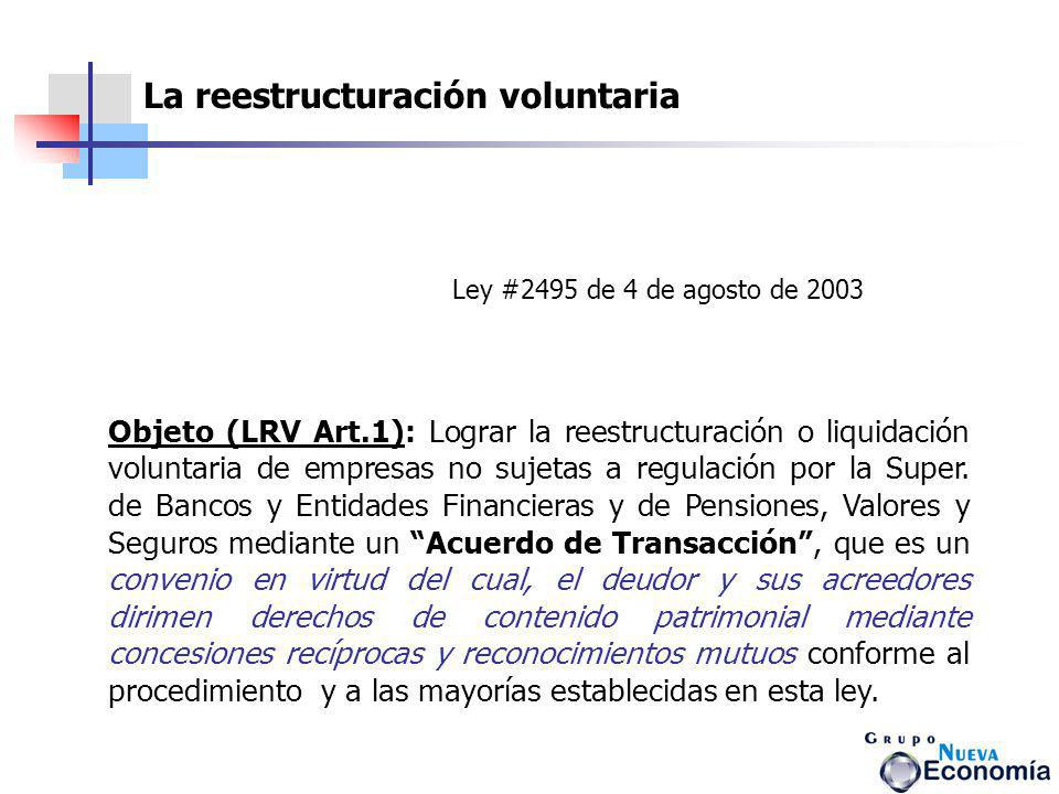 La reestructuración voluntaria