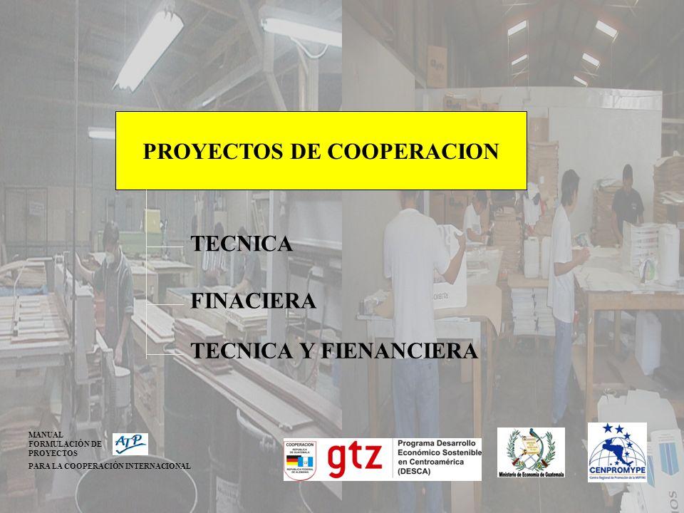 PROYECTOS DE COOPERACION