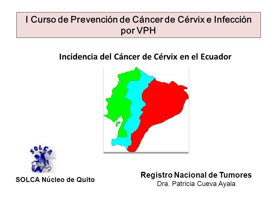 I Curso de Prevención de Cáncer de Cérvix e Infección por VPH