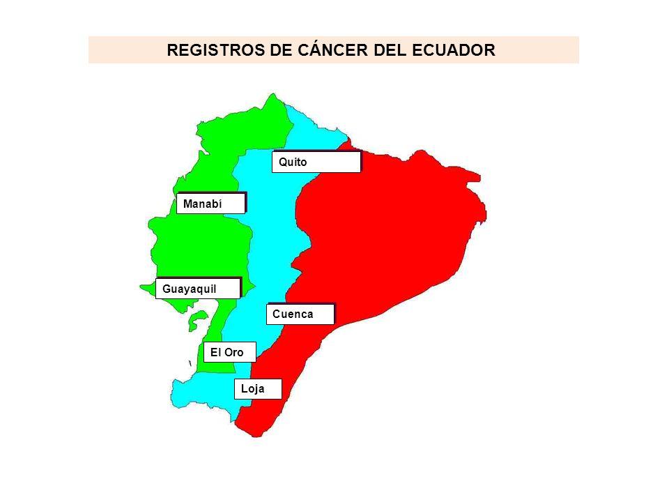 REGISTROS DE CÁNCER DEL ECUADOR