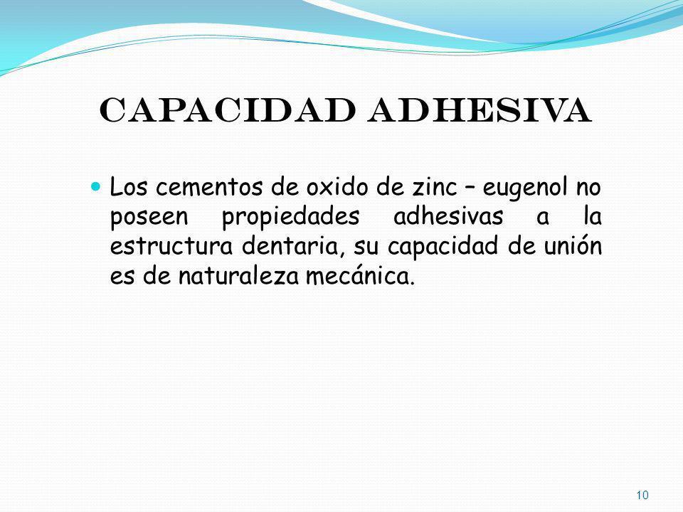 CAPACIDAD ADHESIVA