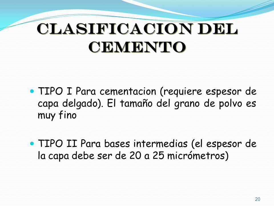 CLASIFICACION DEL CEMENTO