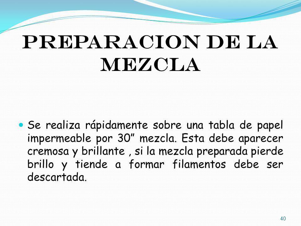 PREPARACION DE LA MEZCLA