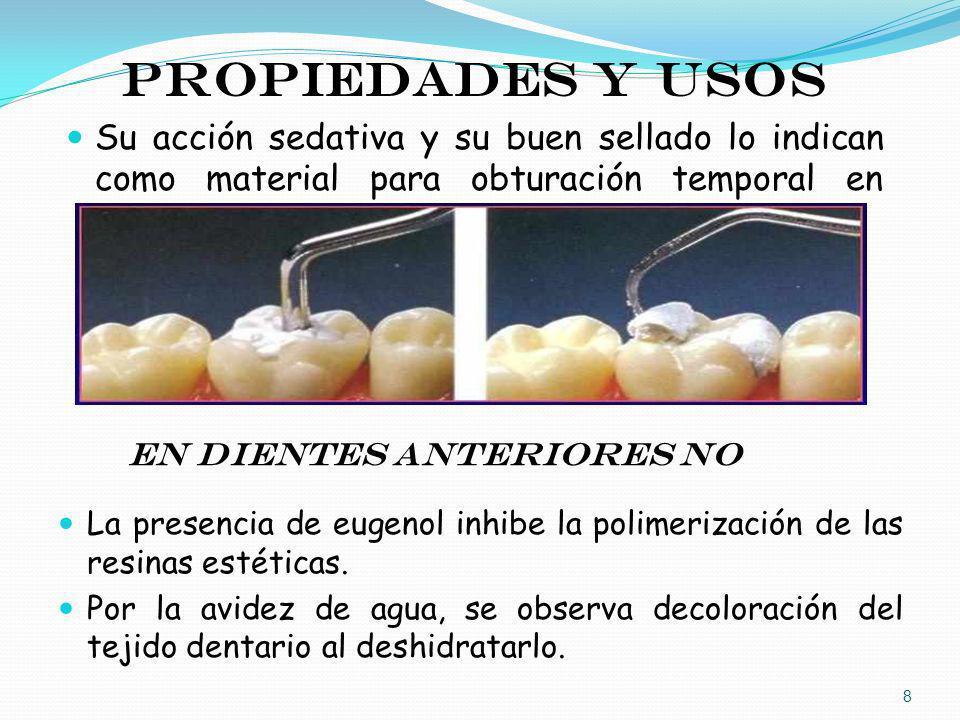 En dientes anteriores NO