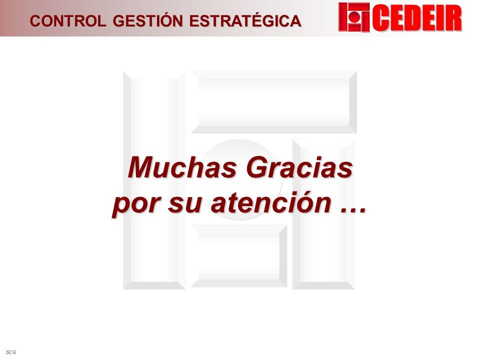 Muchas Gracias por su atención …