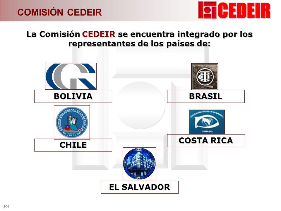 COMISIÓN CEDEIR La Comisión CEDEIR se encuentra integrado por los representantes de los países de: BOLIVIA.