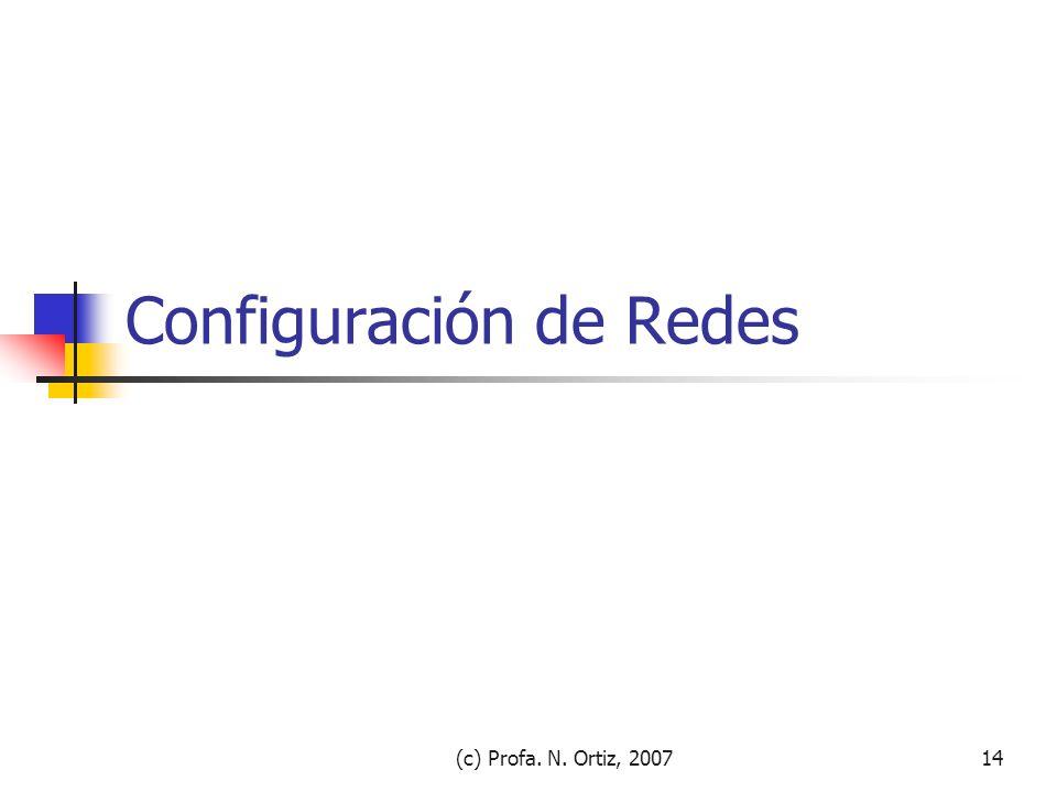 Configuración de Redes