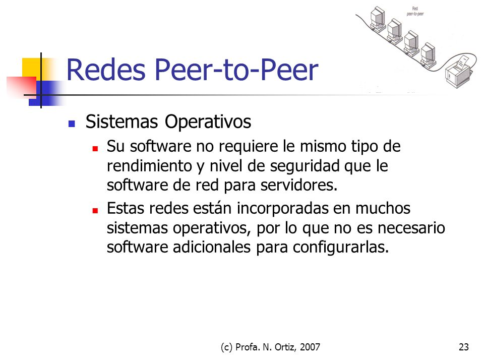 Redes Peer-to-Peer Sistemas Operativos