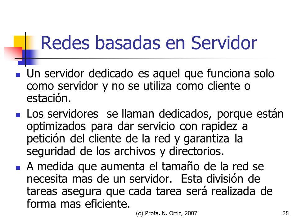 Redes basadas en Servidor