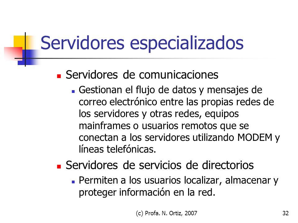 Servidores especializados