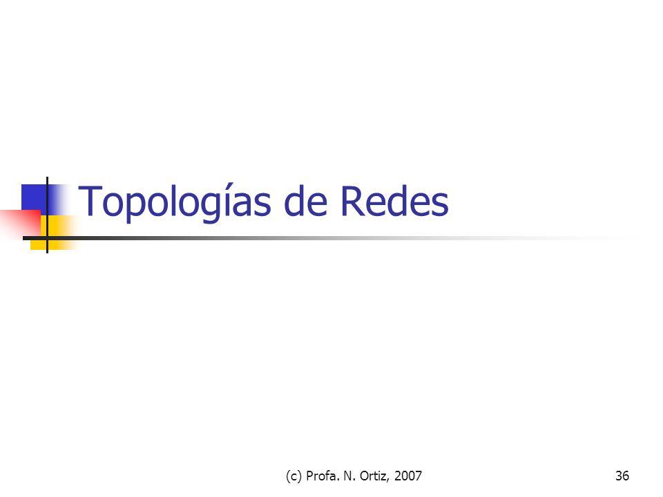 Topologías de Redes (c) Profa. N. Ortiz, 2007
