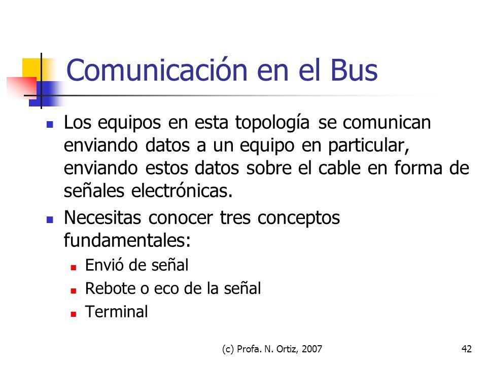 Comunicación en el Bus