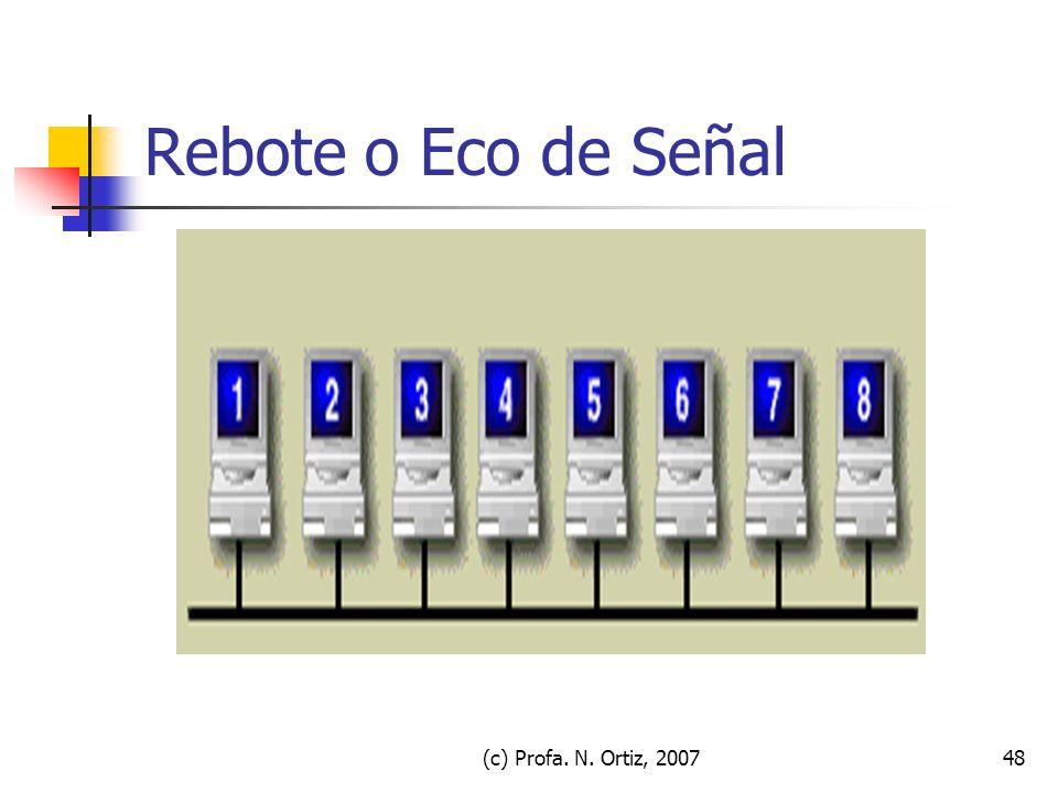 Rebote o Eco de Señal (c) Profa. N. Ortiz, 2007