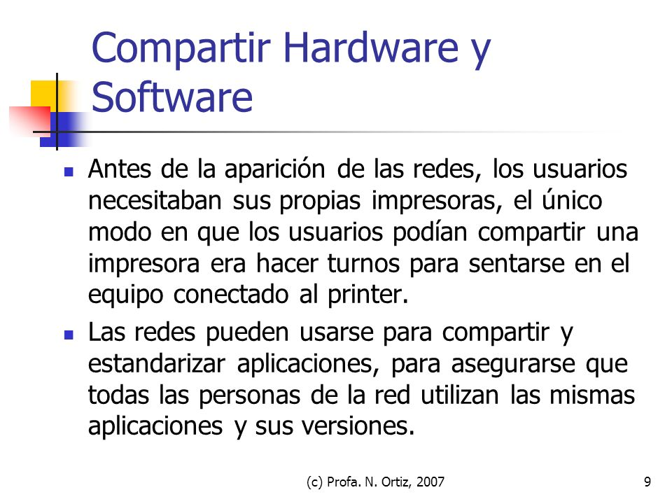 Compartir Hardware y Software