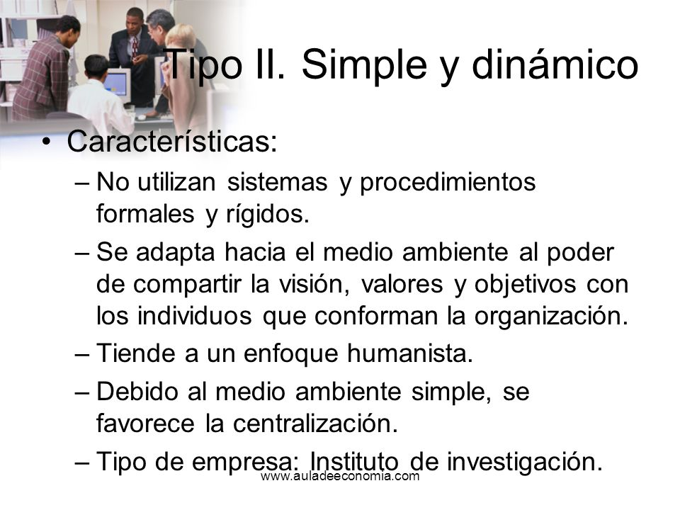 Tipo II. Simple y dinámico
