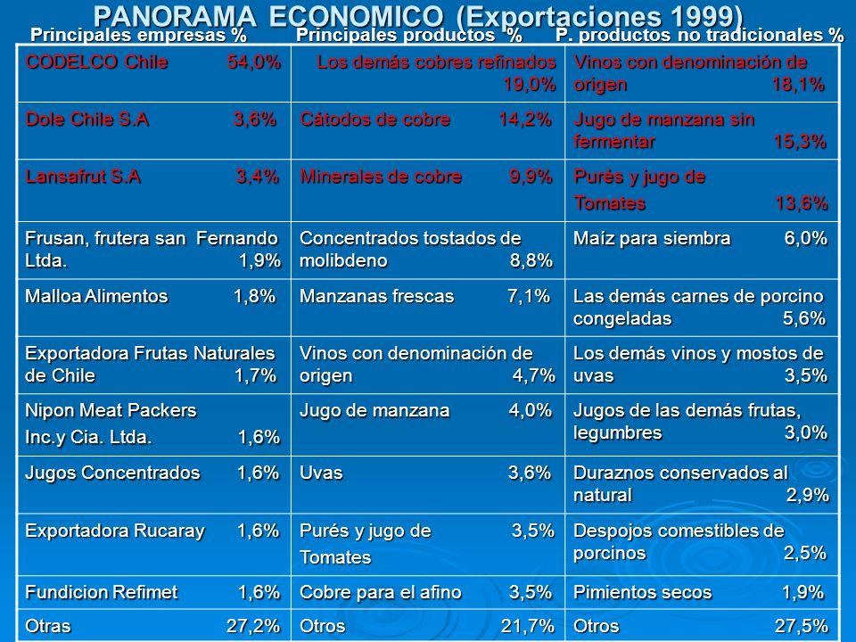 PANORAMA ECONOMICO (Exportaciones 1999)