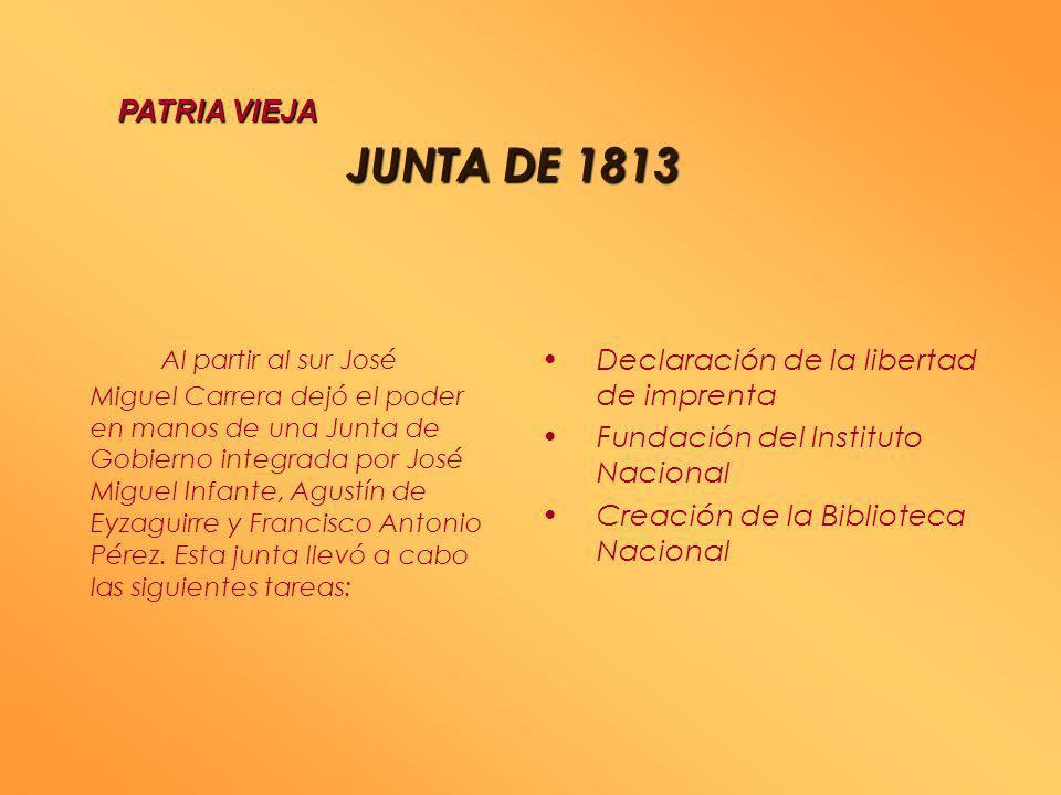 PATRIA VIEJA JUNTA DE 1813.