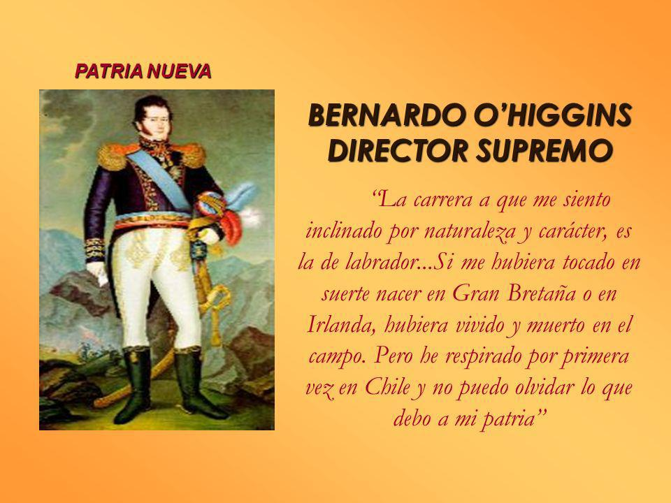 BERNARDO O'HIGGINS DIRECTOR SUPREMO