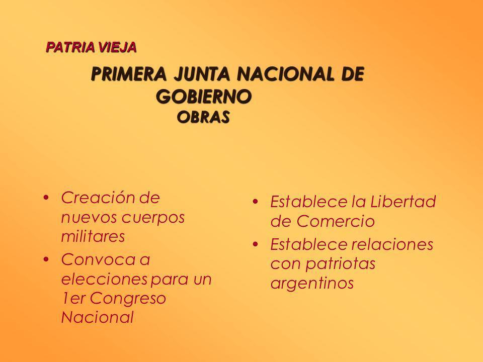 PRIMERA JUNTA NACIONAL DE GOBIERNO OBRAS