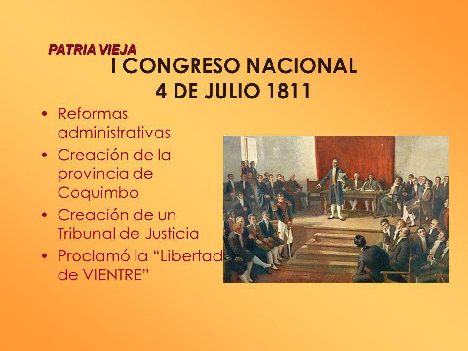 I CONGRESO NACIONAL 4 DE JULIO 1811