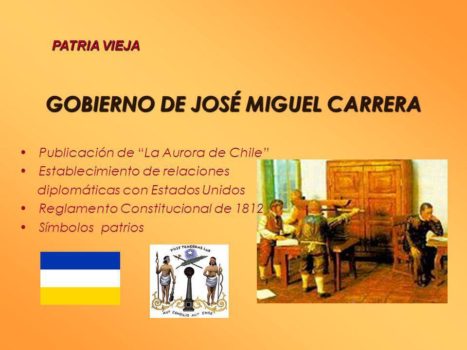GOBIERNO DE JOSÉ MIGUEL CARRERA