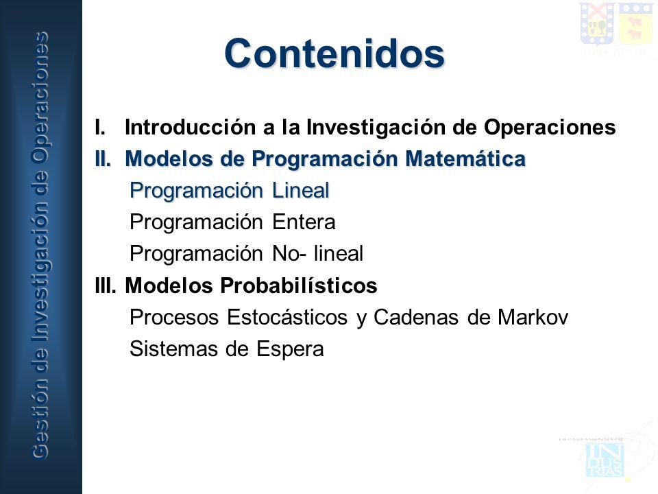 Gestión de Investigación de Operaciones