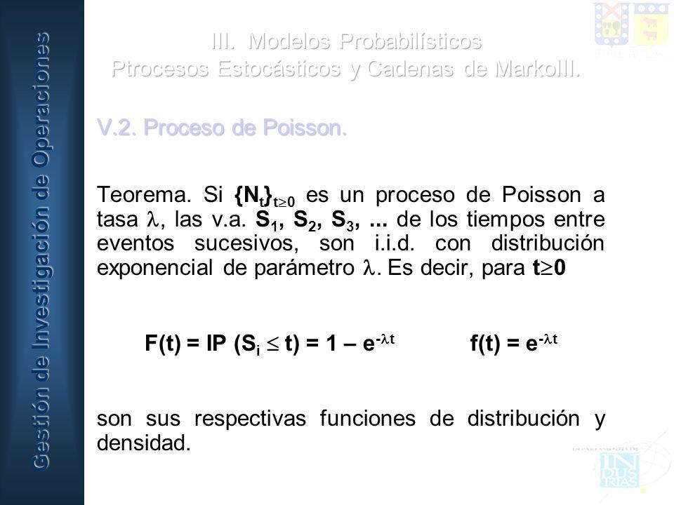 F(t) = IP (Si  t) = 1 – e-t f(t) = e-t