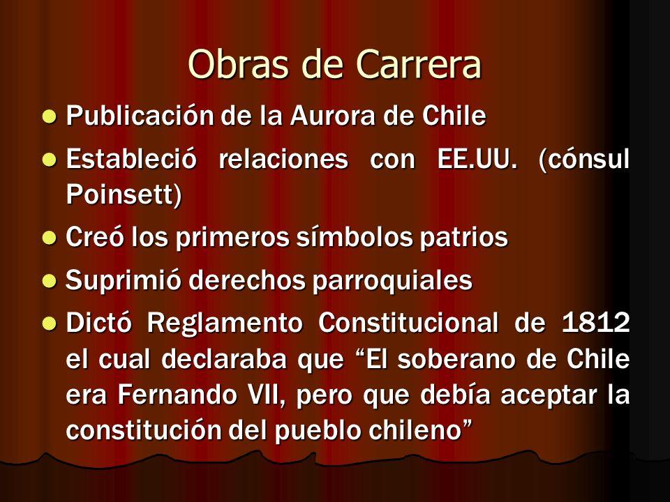 Obras de Carrera Publicación de la Aurora de Chile