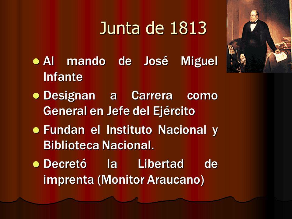 Junta de 1813 Al mando de José Miguel Infante