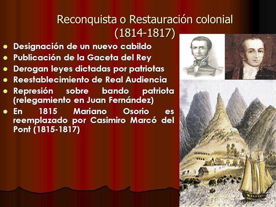 Reconquista o Restauración colonial (1814-1817)