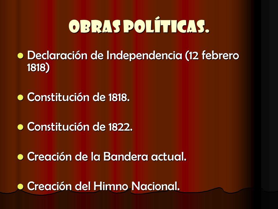 Obras Políticas. Declaración de Independencia (12 febrero 1818)