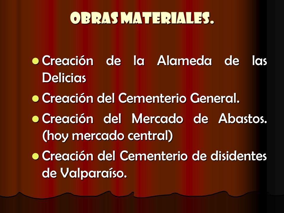 Obras Materiales. Creación de la Alameda de las Delicias