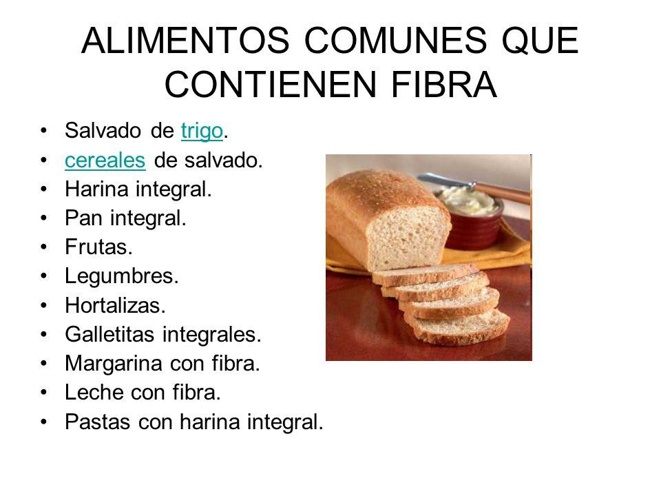 Nutrici n ppt descargar - Alimentos que tienen fibra ...