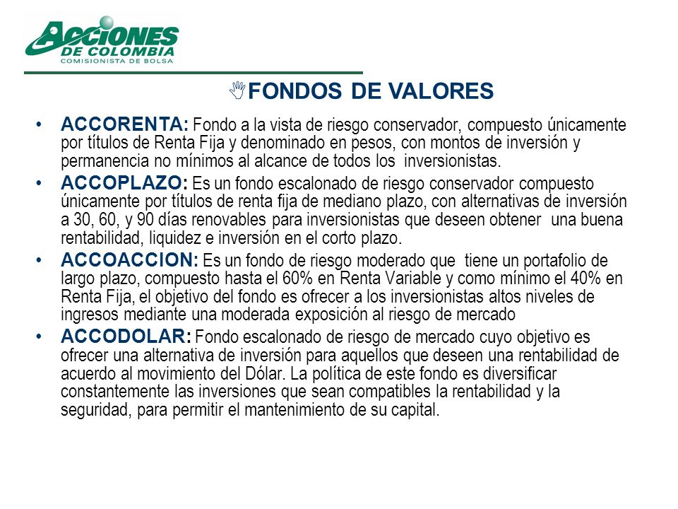 FONDOS DE VALORES