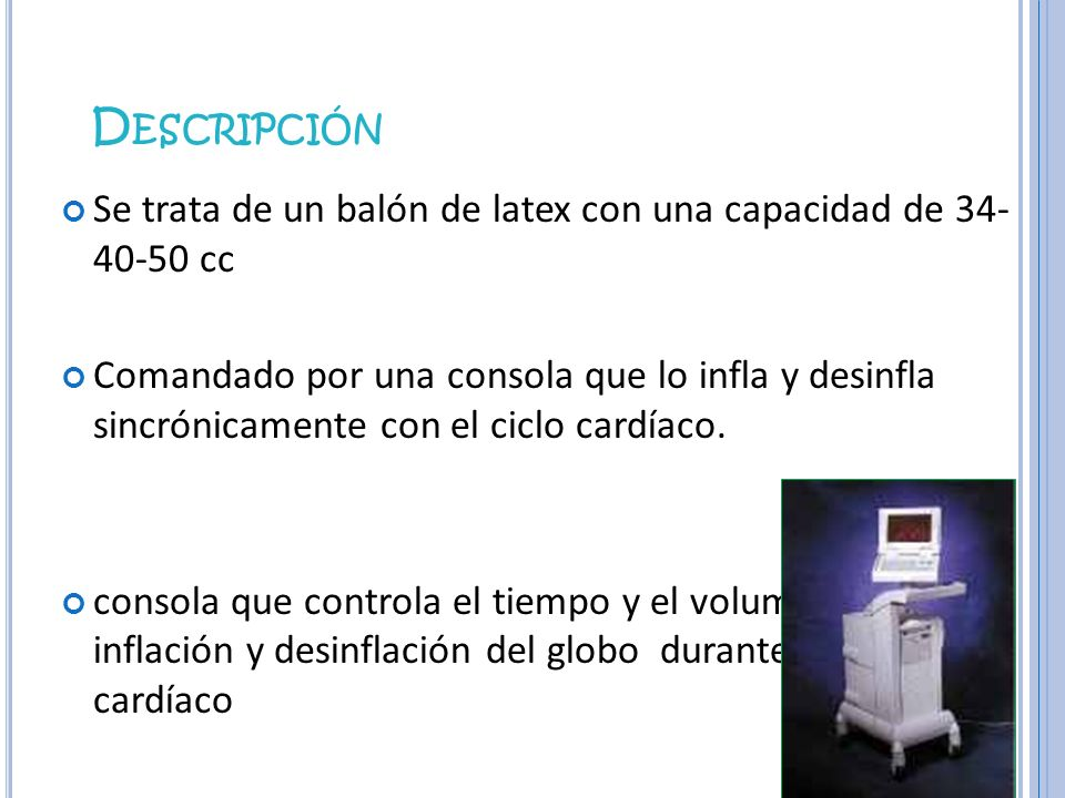 DescripciónSe trata de un balón de latex con una capacidad de 34- 40-50 cc.