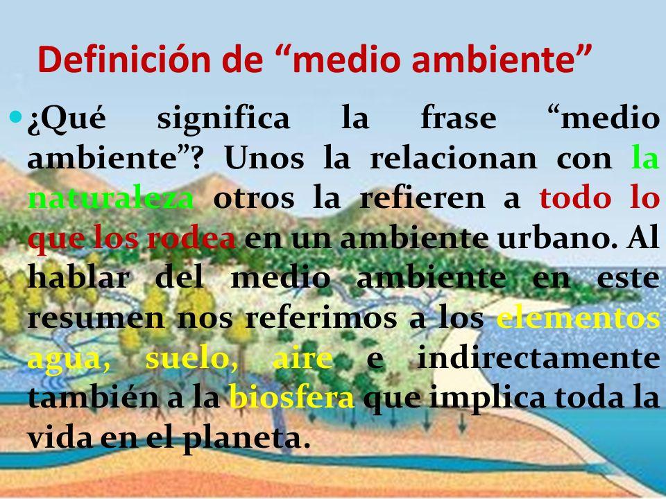 Definición de medio ambiente
