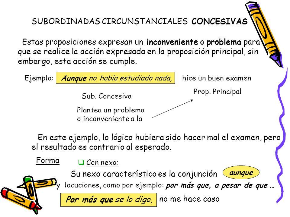 SUBORDINADAS CIRCUNSTANCIALES CONCESIVAS